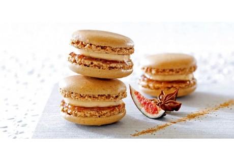 Macarons au foie gras et pommes caramélisées - 32 pcs