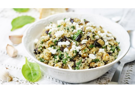 Salade de quinoa et lentilles vertes BIO à la Féta - 12 pcs