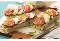 Focaccia aux tomates confites et mozzarella - 22 pcs