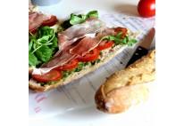 Mini sandwich baguettine au jambon sec et parmesan - 22 pcs