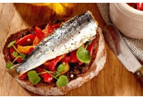 Tartine de sardine fraîches aux poivrons - 22 pcs