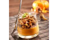 Verrines de potimarron, châtaignes, noisettes et champignons des bois - 20 pcs