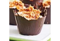 Mini coupelle au chocolat aux clémentines - 24 pcs
