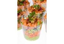 Salade de lentilles au saumon fumé - 12pcs