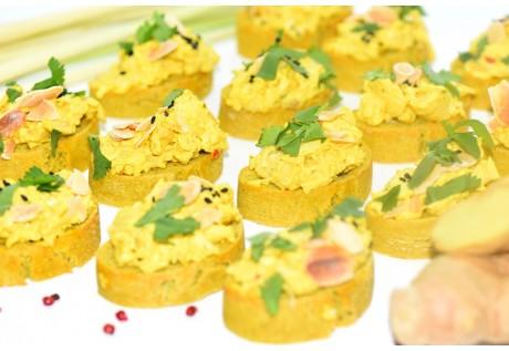 Tartines poulet au curry - 20 pcs