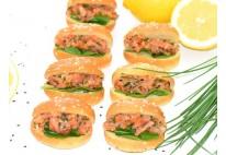 Navette tartare de saumon au citron - 16 pcs